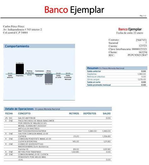 ejemplo estado de cuenta bancomer pin estado de cuenta bancomer on pinterest