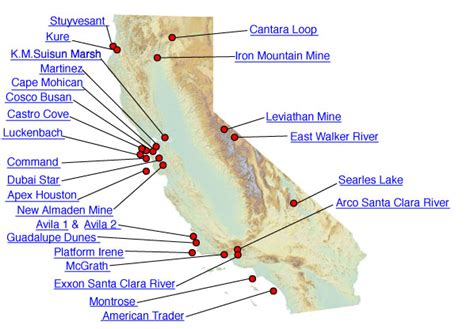 california map resources resource damage assessment nrda and restoration
