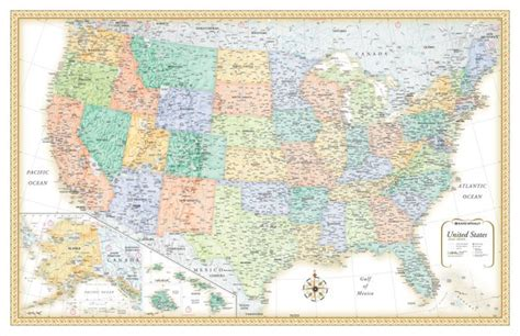 large united states wall map rand mcnally classic edition united states usa large wall