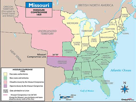 missouri compromise map activity answer key missouri historical map missouri compromise 1820 by
