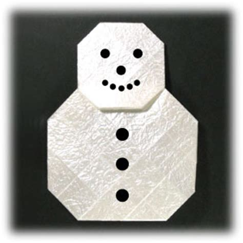 How To Make A Snowman With Paper - how to make an easy origami snowman page 1