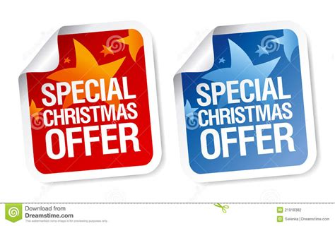 christmas special offers special offer stickers stock vector image 21918382