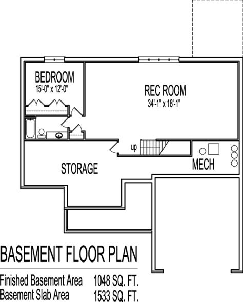 one bedroom house plans with basement 3 bedroom house plans with basement smalltowndjs com