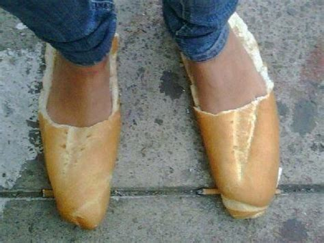 bread loaf slippers shoes made of bread loafers hahahhahaha stuff