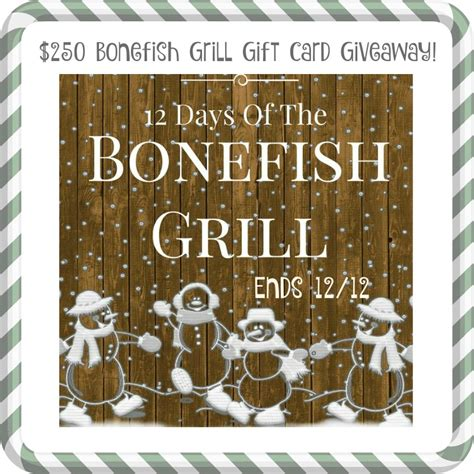 Bonefish Grill E Gift Card - bonefish grill restaurant gift card giveaway 250 in prizes ends 12 12 bfg12days