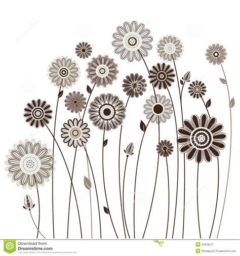 fiori vettoriali carta floreale mazzo dei fiori stilizzati illustrazione