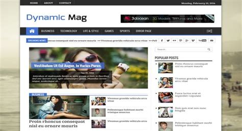 Dynamic Mag Responsive Blogger Template Xhacker Network Dynamic Html Email Templates
