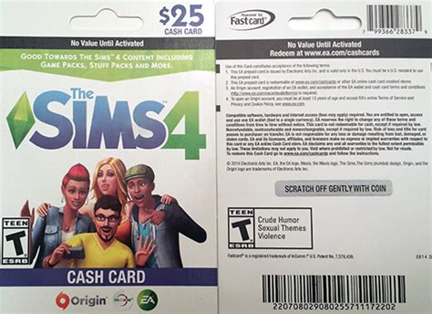 Sims 4 Gift Card - die sims 4 game cards in den usa