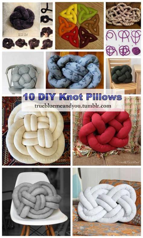 diy knot pillows tutorial diy craft 10 diy knot pillows roundup by truebluemeandyou a
