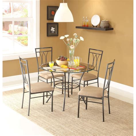 kitchen table cool square glass dining table and 4 chairs