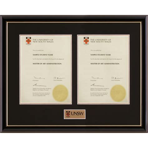 Award Letter Unsw wales degree certificate sle images