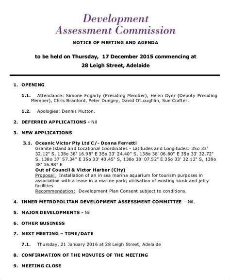 business development meeting agenda template development agenda templates 7 free word pdf format