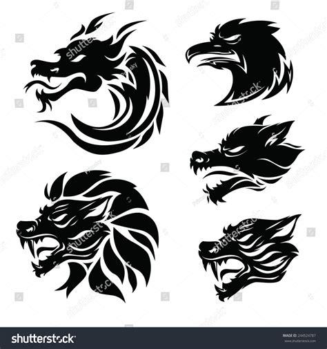 tattoo animal vector animal tribal tattoo set stock vector 244524787 shutterstock