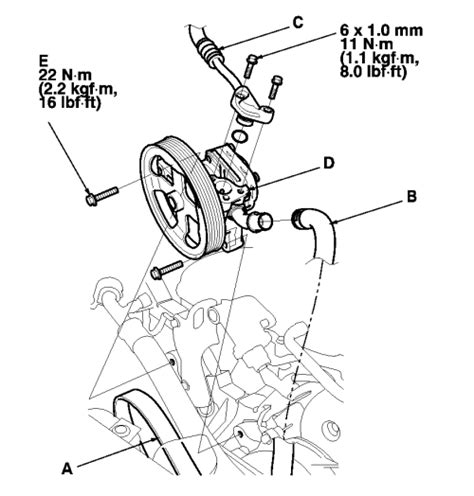 electric power steering 2003 acura cl spare parts catalogs repair guides power steering pump removal installation autozone com