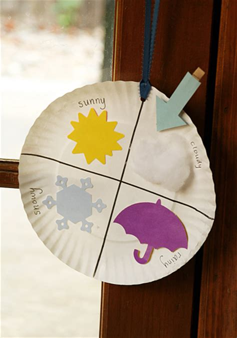 weather crafts for paper plate weather chart family crafts