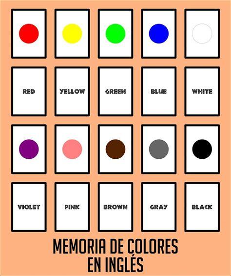 recortar imagenes en ingles colores en ingl 233 s juego de memoria