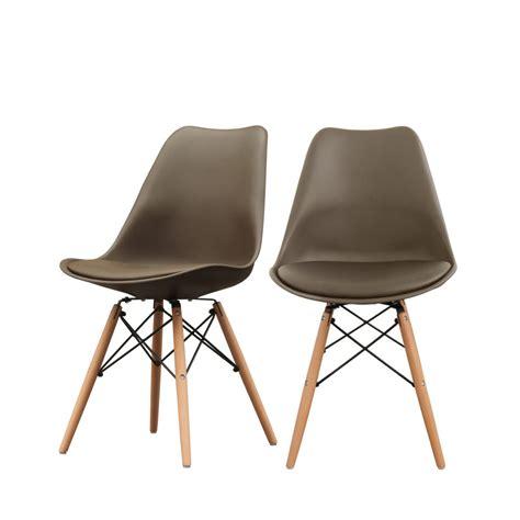 Lot De Chaise Design by Lot De 2 Chaises Design Nielsen Par Drawer Fr