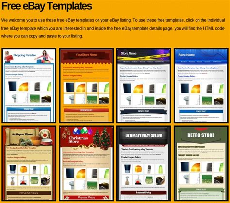 Free Ebay Templates Cyberuse Use Ebay Templates