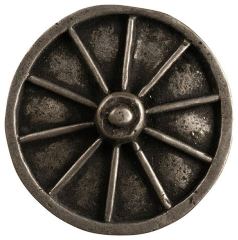 Rustic Drawer Knobs by Wagon Wheel Medium Knob Set Of 10 Pewter Copper