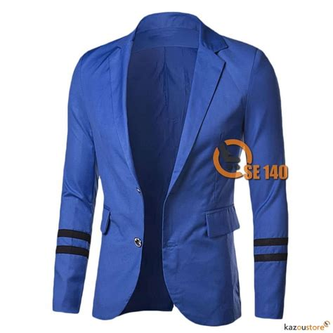 Jaket Jas Jas Blazer Casual Biru detil produk casual blazer for se140 biru kazoustore