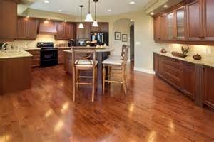 Wood Floor Ideas For Kitchens by Dark Cabinets Lighter Wood Floors Light Countertops