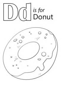 donut coloring page letter d is for donut coloring page free printable