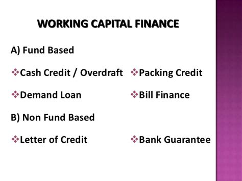 Letter Of Credit Guarantee Scheme Working Capital Assessment