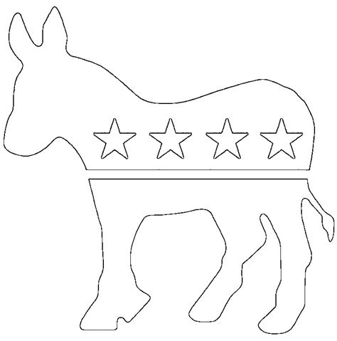 democratic symbol and color democratic political symbol coloring sheets gulfmik