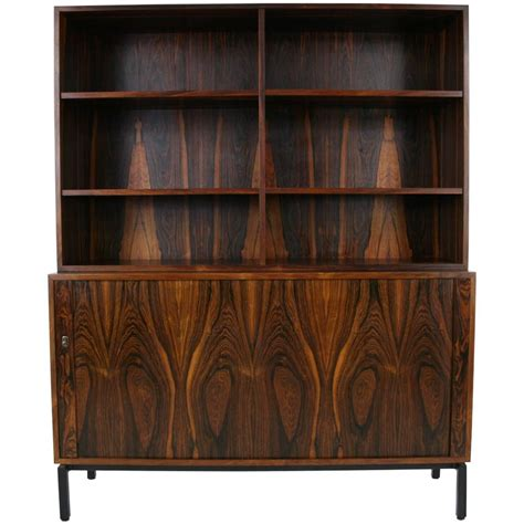 office bookcase with doors mid century modern rosewood office cabinet bookcase with