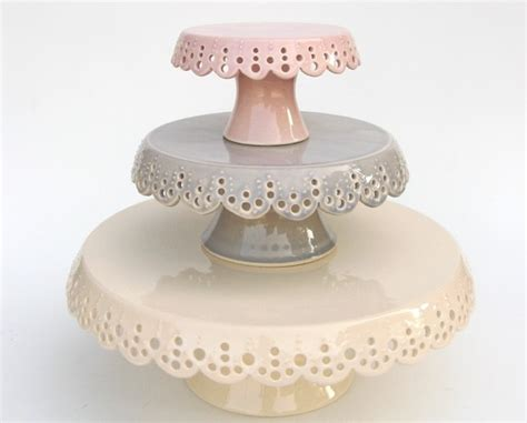 etsy finds handmade and vintage cake stands for your next