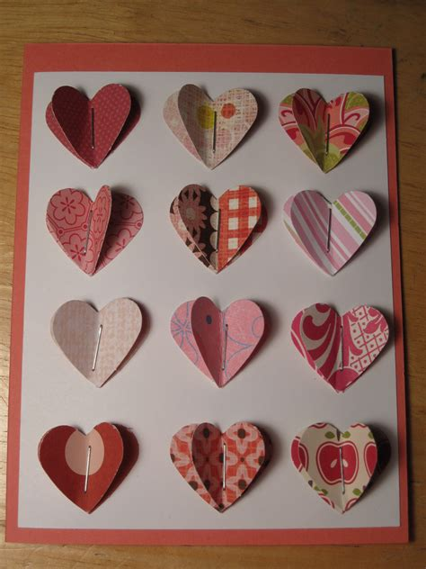 card projects fluttering hearts card dianne faw