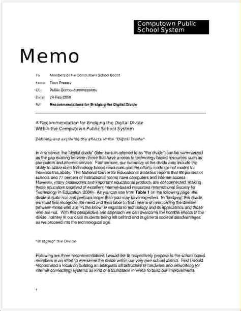 Business Letter Memo 9 memo letter format memo formats
