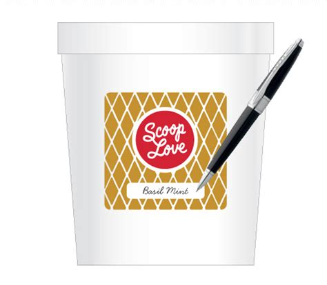 Scoop Love Branding Bureau Of Betterment Pint Label Template
