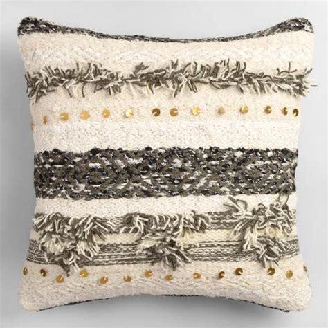 gray wedding blanket shag throw pillow world market