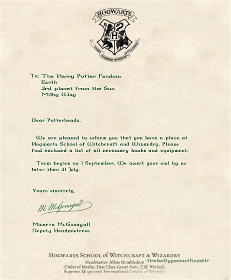 Harry Potter Acceptance Letter hogwarts acceptance letter harry potter disney harry potter theme and birthdays