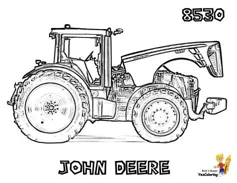 daring john deere coloring  john deere tractor