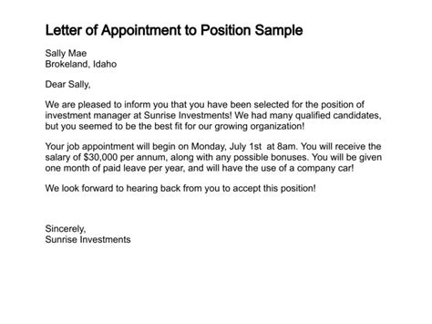 appointment letter general manager hotel appointment letter sle for general manager