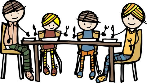 Family At Dinner Table Clipart dinner clipart clipart panda free clipart images