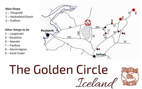 golden circle iceland map the golden circle iceland map planning info photos