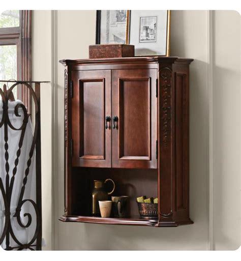 Cherry Bathroom Wall Cabinet Ronbow 688026 F11 Bordeaux Bathroom Wall Cabinet In Colonial Cherry
