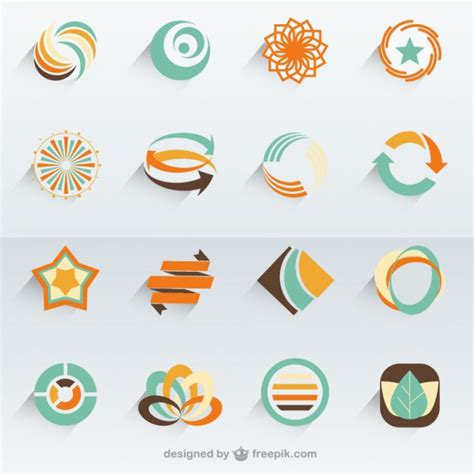 abstract vector logo templates vector free download