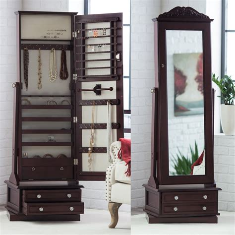 Jewelry Mirror Armoire by Standing Jewelry Cabinet Caymancode