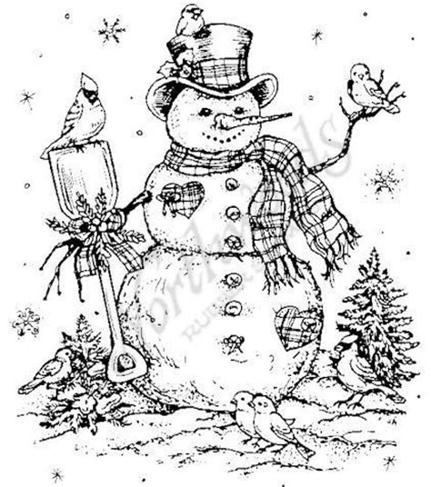 snowman scene coloring page 17 best images about coloring pictures on pinterest