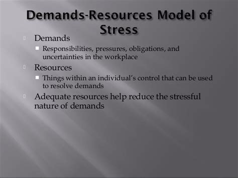 Mba Organizational Change Management by Organizational Stressors Associated With Stress And