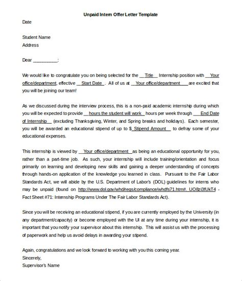 Offer Letter Sle For Internship 31 Offer Letter Templates Free Word Pdf Format Free Premium Templates