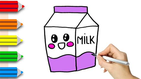 How To Draw Milk how to draw milk bottle coloring pages for