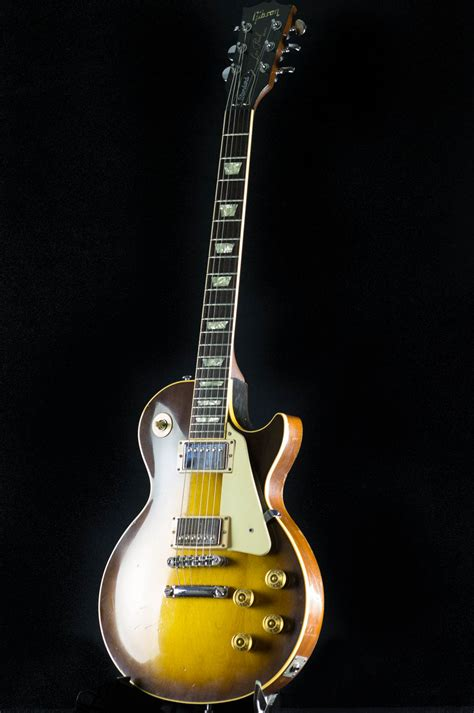 Gitar Gibson Les Paul 145 1986 gibson les paul standard tobacco sunburst guitar the official gearlicious collection