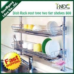Kitchen Sink Plate Drainer - over the sink wall dish drainer small spaces
