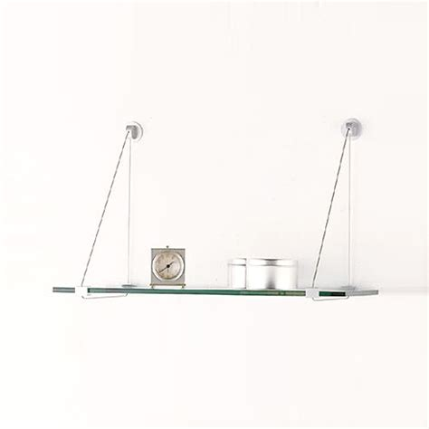 wall brackets for glass shelves glass shelves with cable brackets the container store