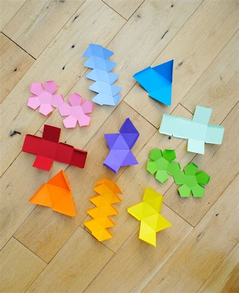 3d Shapes With Paper - i mathematics platonic solids garland platonic solid